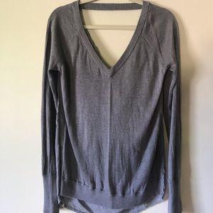 Lululemon Unity drape back sweater